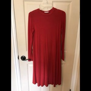 Reborn J swing dress size small rust red color